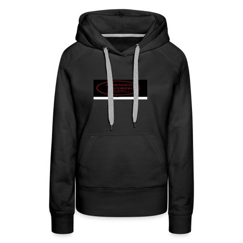 Damaged Records Black and Red Oval logo - Women's Premium Hoodie