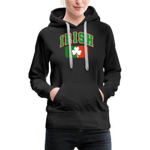 Vintage Irish Flag Shirt St Patricks Day Shamrock - Women's Premium Hoodie