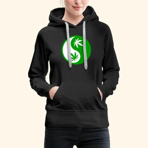 Ying Yang Cannabis - Weed Ying Hanf Yang - Design - Women's Premium Hoodie