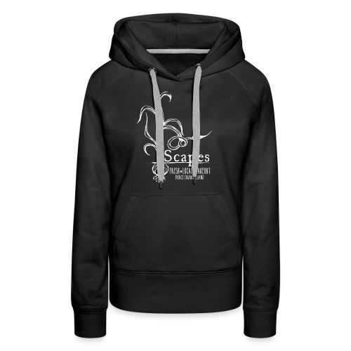 Scapes logo all white 1 png - Women's Premium Hoodie