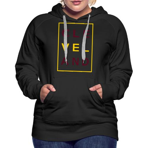 Cleveland Typography - Women's Premium Hoodie