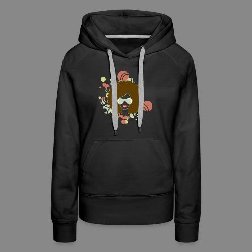 Brown Afro (Abstract) - Women's Premium Hoodie