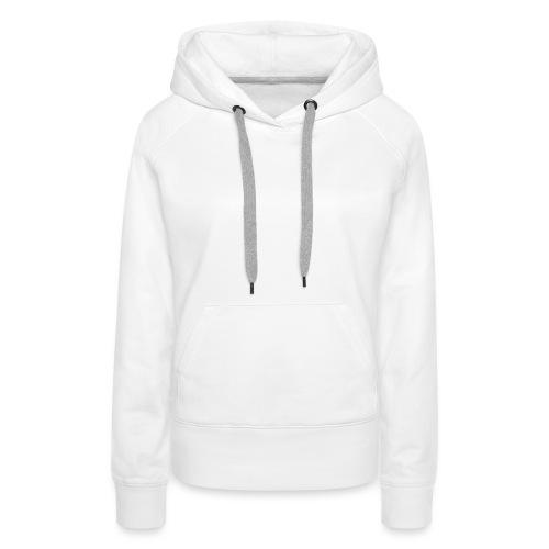 Invoketress Bellies Logo in White - Women's Premium Hoodie