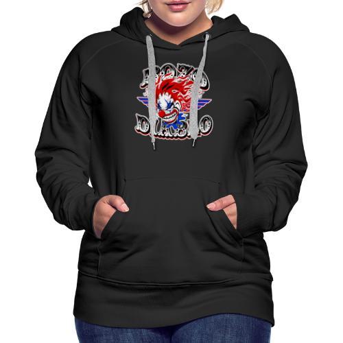 Bozo Diablo Crazy Clown Illustration - Women's Premium Hoodie