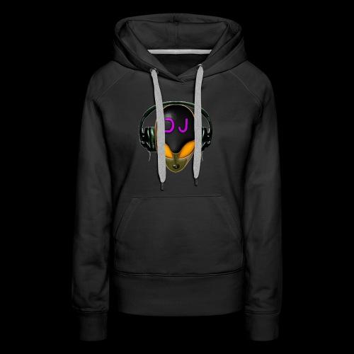 Alien DJ - Orange - Hard Shell Bug - Women's Premium Hoodie