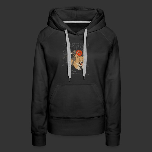 A Corgi Knight charges into battle - Women's Premium Hoodie