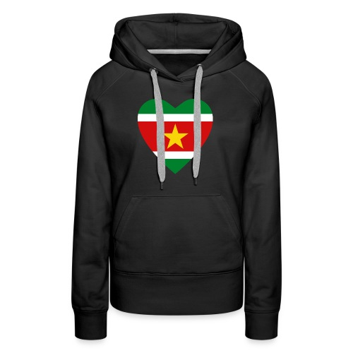 Suriname Flag Heart - Women's Premium Hoodie