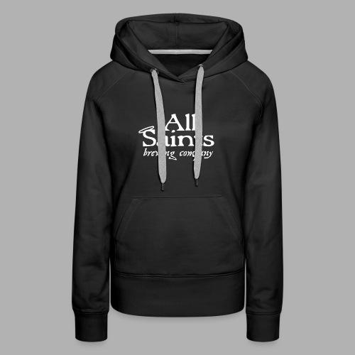 All Saints Logo White - Women's Premium Hoodie