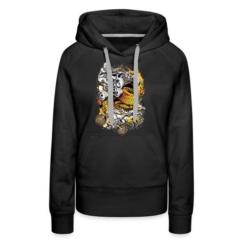 FMX Freestyle Abstract - Women's Premium Hoodie