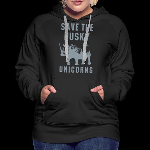 Save the Husky Unicorns | Funny Rhino - Women's Premium Hoodie