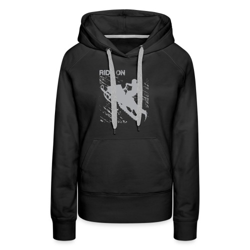 Snowmobile Riding - Women's Premium Hoodie