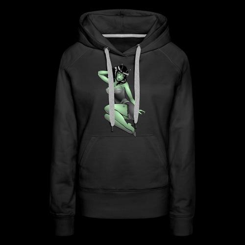 Pinup Girl Alien Gifts & Shirts Retro Pinup Alien - Women's Premium Hoodie