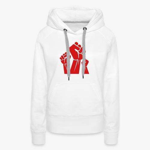 Fight the power red fist - Women's Premium Hoodie