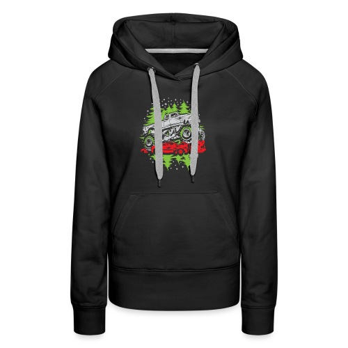 Ugly Christmas Monster - Women's Premium Hoodie