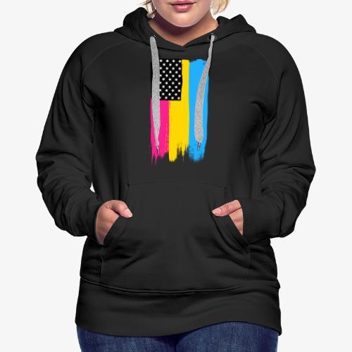 Pansexual Pride Stars and Stripes - Women's Premium Hoodie