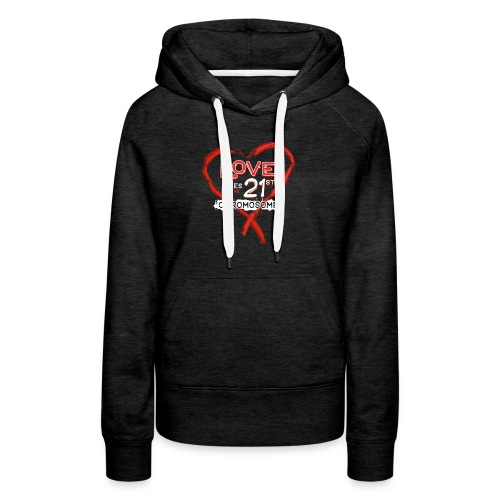 Down Syndrome Love (Red/White) - Women's Premium Hoodie
