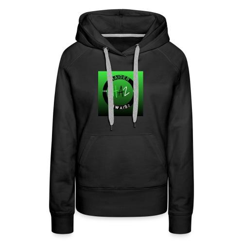 Haider Awais Logo Green - Women's Premium Hoodie