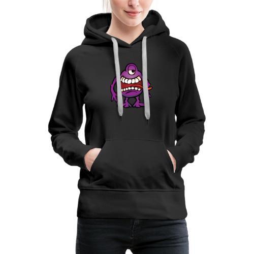 Cartoon Monster Alien - Women's Premium Hoodie