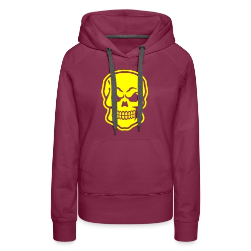 Skull vector yellow - Women's Premium Hoodie