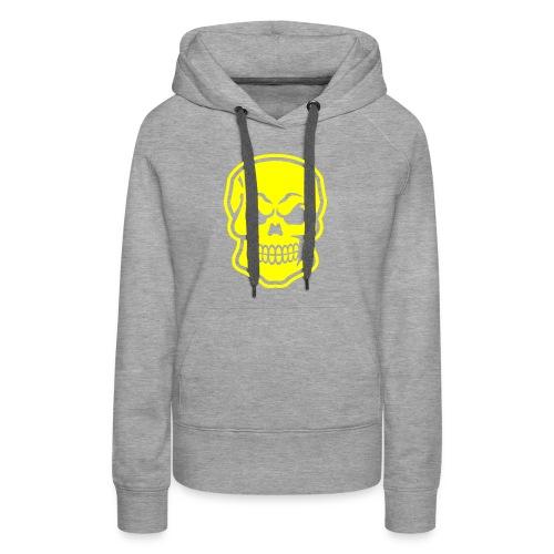 Skull vector yellow - Women's Premium Hoodie