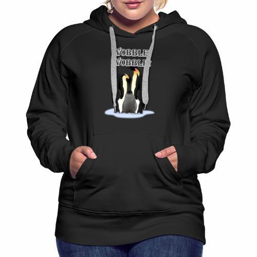 Wobbley Penguin - Women's Premium Hoodie