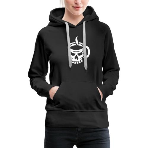 Caffeinated Coffee Skull - Women's Premium Hoodie