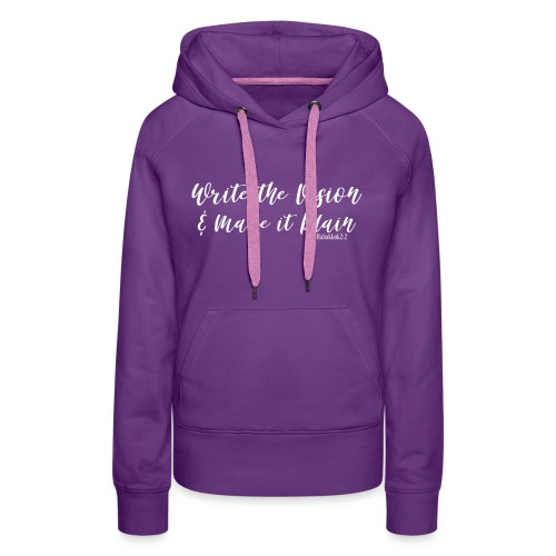 WRITE THE VISION AND MAKE IT PLAIN-SHELLY SHELTON - Women's Premium Hoodie