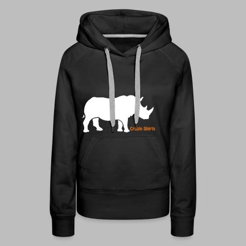 Childrens T-Shirt: Cruzin Rhino - Women's Premium Hoodie