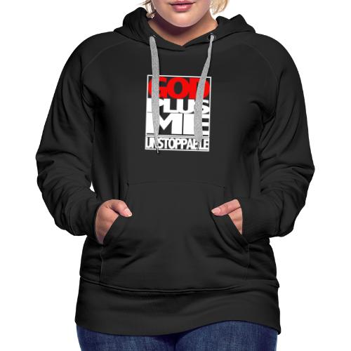 GOD PLUS ME WHT_T - Women's Premium Hoodie