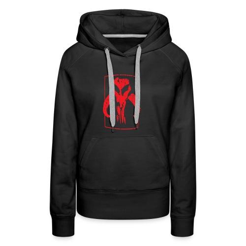 RED Mando skull - Women's Premium Hoodie