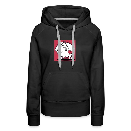 SimAlley Red Sheepy Logo - Women's Premium Hoodie