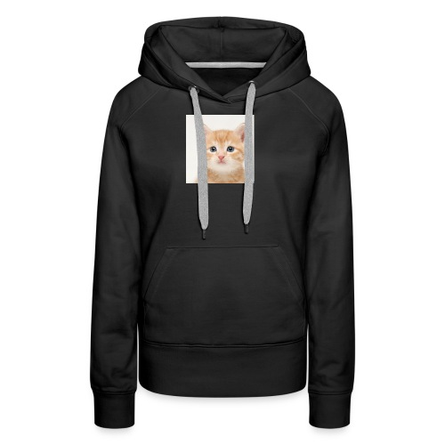 the great cute cat shirt - Women's Premium Hoodie