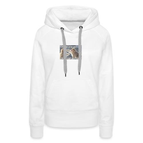 funny animal memes shirt - Women's Premium Hoodie