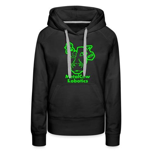 MetalCowLogo GreenOutline - Women's Premium Hoodie