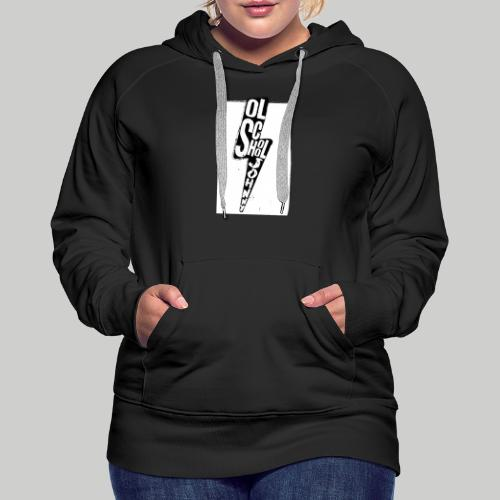 Ol' School Johnny Black and White Lightning Bolt - Women's Premium Hoodie