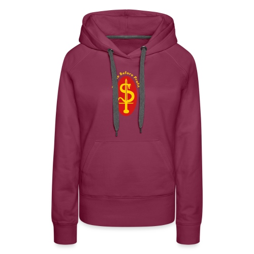 people before profit - Women's Premium Hoodie