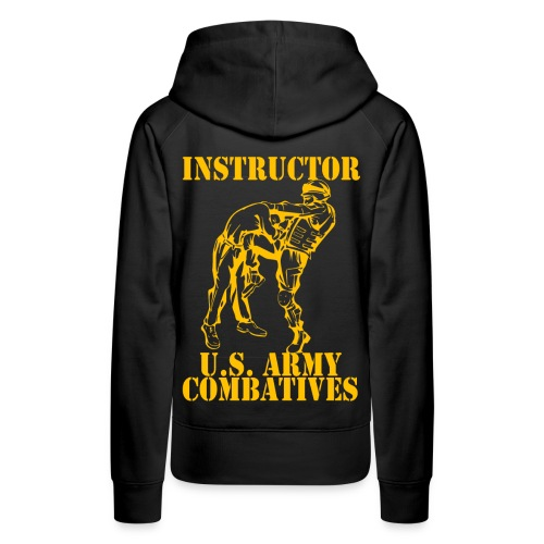 Army Combatives Knee Instructor Gold - Women's Premium Hoodie