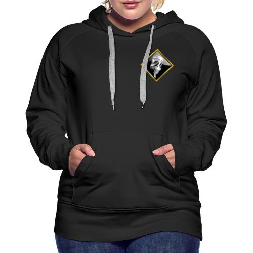 Chrome and Steel Logos - Double Sided - Women's Premium Hoodie