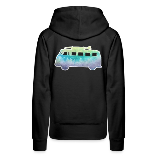 Surfers Kombi Van - Women's Premium Hoodie