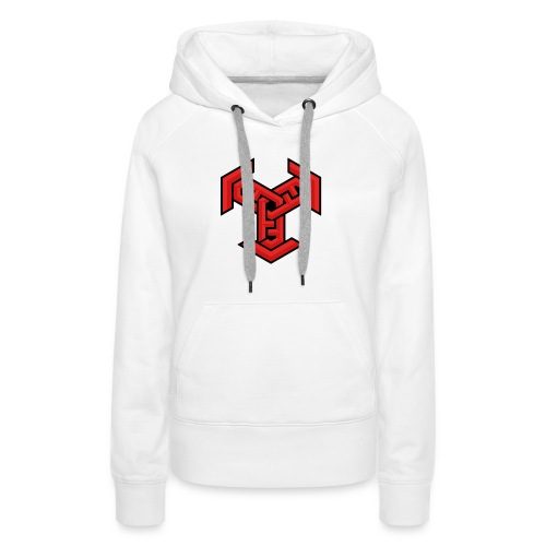 DDM Logo Red,Black,White - Women's Premium Hoodie