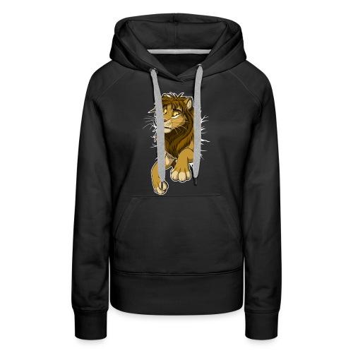 STUCK Lion (white cracks) - Women's Premium Hoodie