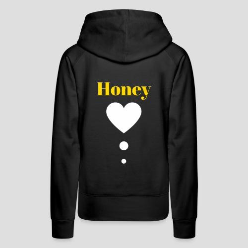Honey Baby (Yellow & White) - Women's Premium Hoodie