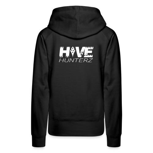 White Hive Hunterz Logo - Women's Premium Hoodie