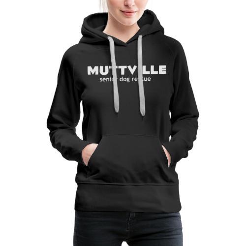 muttville wht - Women's Premium Hoodie