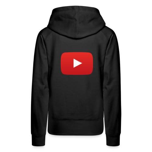 YouTube icon full color png - Women's Premium Hoodie