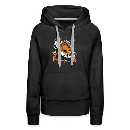 STUCK grumpy Fox Red (double-sided) - Women's Premium Hoodie