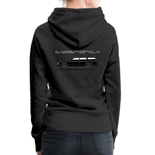 Cyberbrick Future Electric Wagon Black Outlines - Women's Premium Hoodie