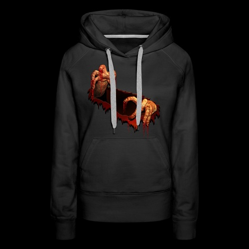 Zombie Shirts Gory Halloween Scary Zombie Gifts - Women's Premium Hoodie