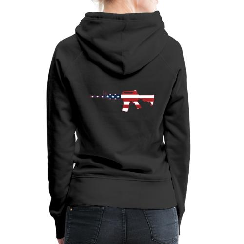 AR-15 Stars & Stripes Rifle Silhouette - Women's Premium Hoodie