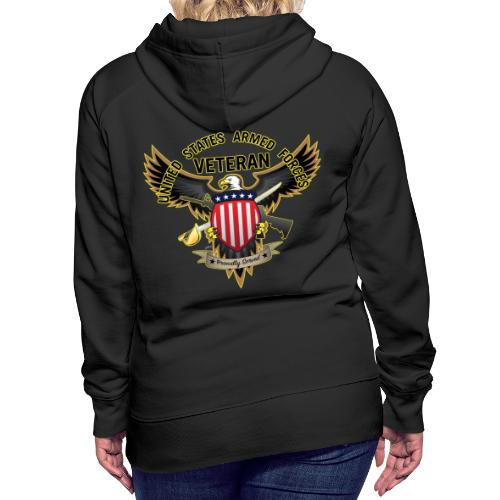 United States Armed Forces Veteran, Proudly Served - Women's Premium Hoodie